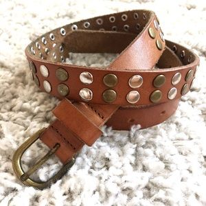 UO Leather Grommet Belt